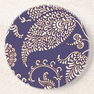 Damask vintage paisley girly floral chic pattern coaster