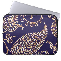 Damask vintage paisley girly floral chic pattern computer sleeve