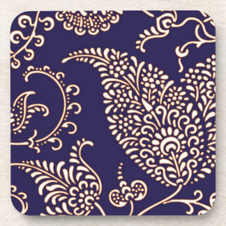 Damask vintage paisley girly floral chic pattern drink coaster