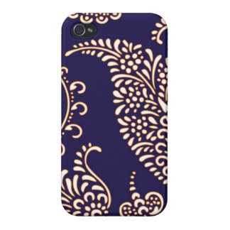 Damask vintage paisley girly floral chic pattern iPhone 4/4S case