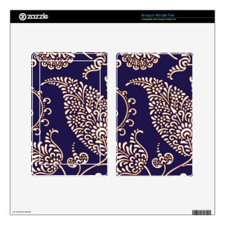 Damask vintage paisley girly floral chic pattern kindle fire skin