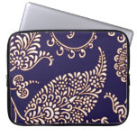 Damask vintage paisley girly floral chic pattern laptop computer sleeves