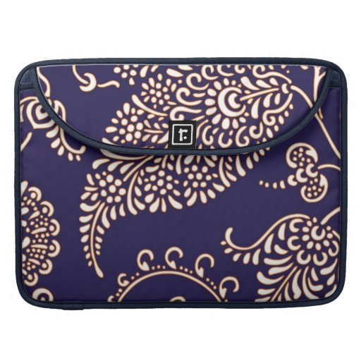 Damask vintage paisley girly floral chic pattern sleeves for MacBooks