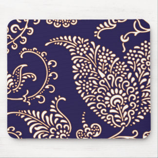 Damask vintage paisley girly floral chic pattern mouse pad