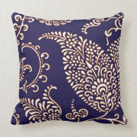 Damask vintage paisley girly floral chic pattern throw pillows