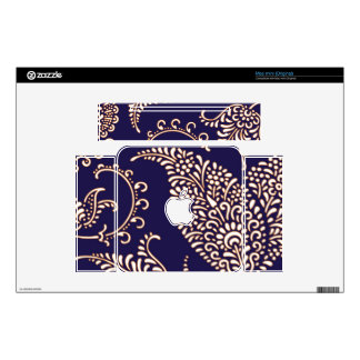 Damask vintage paisley girly floral chic pattern skin for mac mini