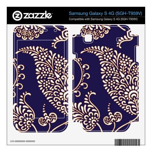 Damask vintage paisley girly floral chic pattern samsung galaxy s 4G decal