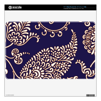 Damask vintage paisley girly floral chic pattern skin for the MacBook air