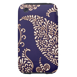 Damask vintage paisley girly floral chic pattern tough iPhone 3 case