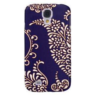 Damask vintage paisley girly floral henna pattern galaxy s4 cover