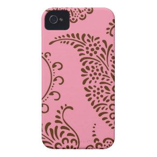 Damask vintage paisley girly floral henna pattern iPhone 4 case