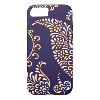 Damask vintage paisley girly floral henna pattern iPhone 8/7 case