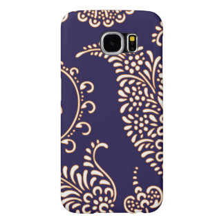 Damask vintage paisley girly floral henna pattern samsung galaxy s6 case