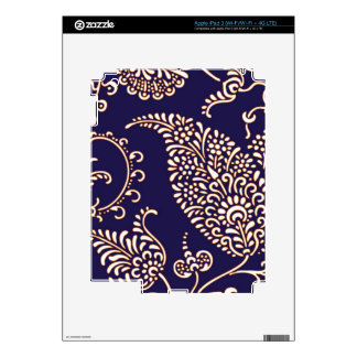 Damask vintage paisley girly floral henna pattern skin for iPad 3