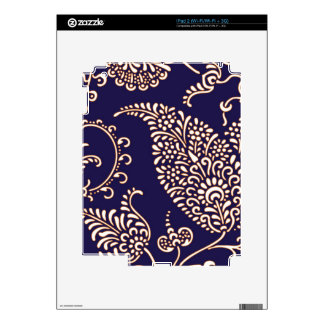 Damask vintage paisley girly floral henna pattern skin for the iPad 2