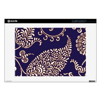 Damask vintage paisley girly floral henna pattern skin for laptop