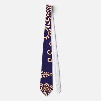 Damask vintage paisley girly floral henna preppy tie