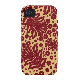 Damask vintage paisley wallpaper floral pattern 4 iPhone 4 case