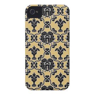 Damask vintage paisley wallpaper floral pattern 4S iPhone 4 Case