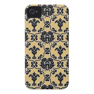 Damask vintage paisley wallpaper floral pattern 4S iPhone 4 Case-Mate Case