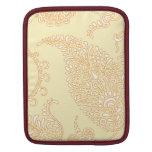 Damask vintage paisley wallpaper floral pattern iPad sleeves