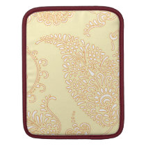 Damask vintage paisley wallpaper floral pattern iPad sleeve
