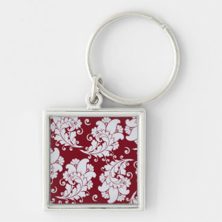 Damask vintage paisley wallpaper floral pattern keychain