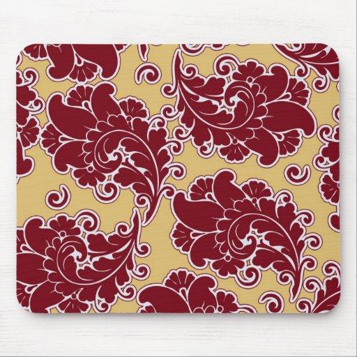 Damask vintage paisley wallpaper floral pattern mousepads