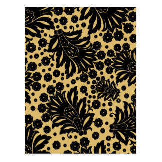 Damask vintage paisley wallpaper floral pattern postcard