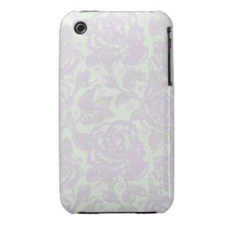 Damask Vintage Rose Purple and Green iPhone case Case-Mate iPhone 3 Cases