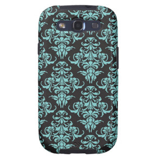 Damask vintage wallpaper blue chic pattern samsung galaxy SIII cases