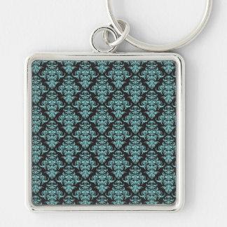 Damask vintage wallpaper chandelier pattern keychain