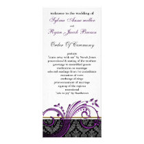 damask violet Wedding program