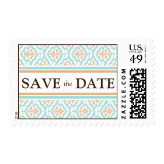 Damask Wallpaper Floral Save the Date Postage