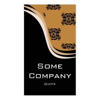 Damask Wave (Hot Cocoa) Double-Sided Standard Business Cards (Pack Of 100)