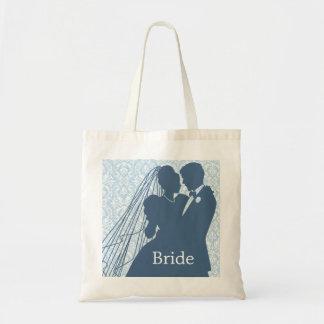 Damask Wedding Couple Tote Bag