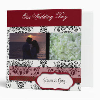 Damask Wedding Day Scapbook - add your photos Binders