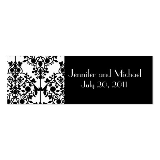 Damask Wedding Favor Gift Tags Business Cards