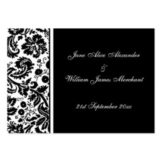 Damask Wedding Guest Book Cards, Select your color Business Cards