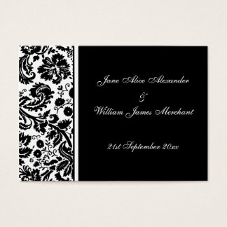 Damask Wedding Guest Book Cards, Select your color Business Card