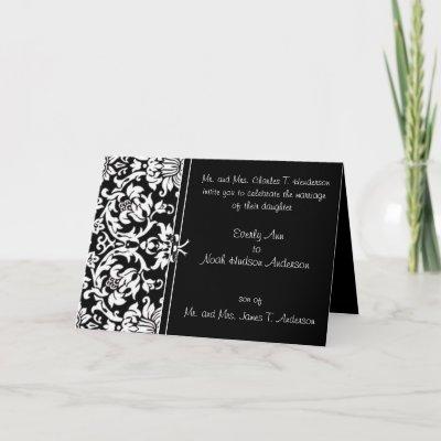 Black and White Wedding Invitations With Your Photo Swirls Wedding