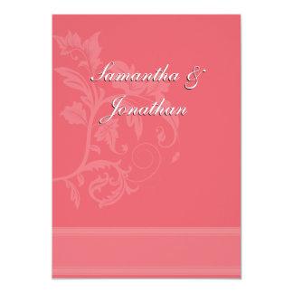 Damask Wedding Invitation - Honeysuckle Pink