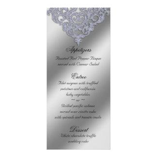 Damask Wedding Menu Cards Sparkle Xmas Customized Rack Card