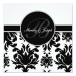 Damask Wedding Monogram Cards