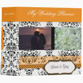 Damask Wedding Planner- add your photos Binders