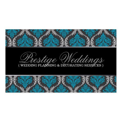 Damask Wedding Planner Business Card