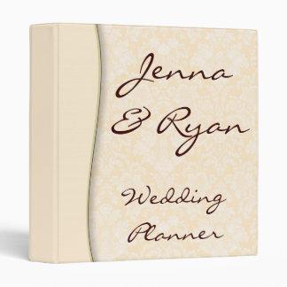 Damask Wedding Planner or Recipe Bridal Binder