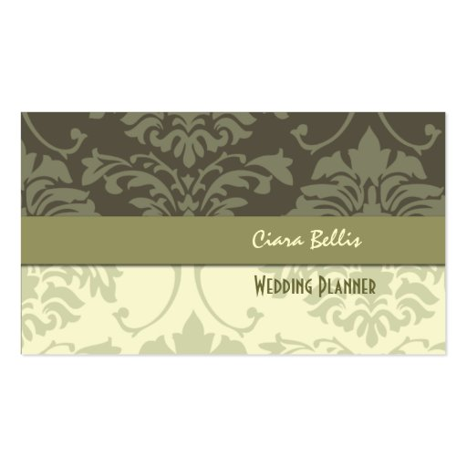 Damask, wedding planners business cards