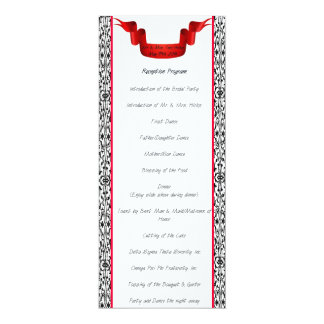Wedding Reception Programs Gifts on Zazzle
