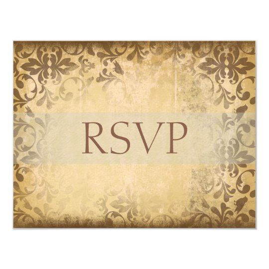 Damask Wedding RSVP Cards or Reply Cards